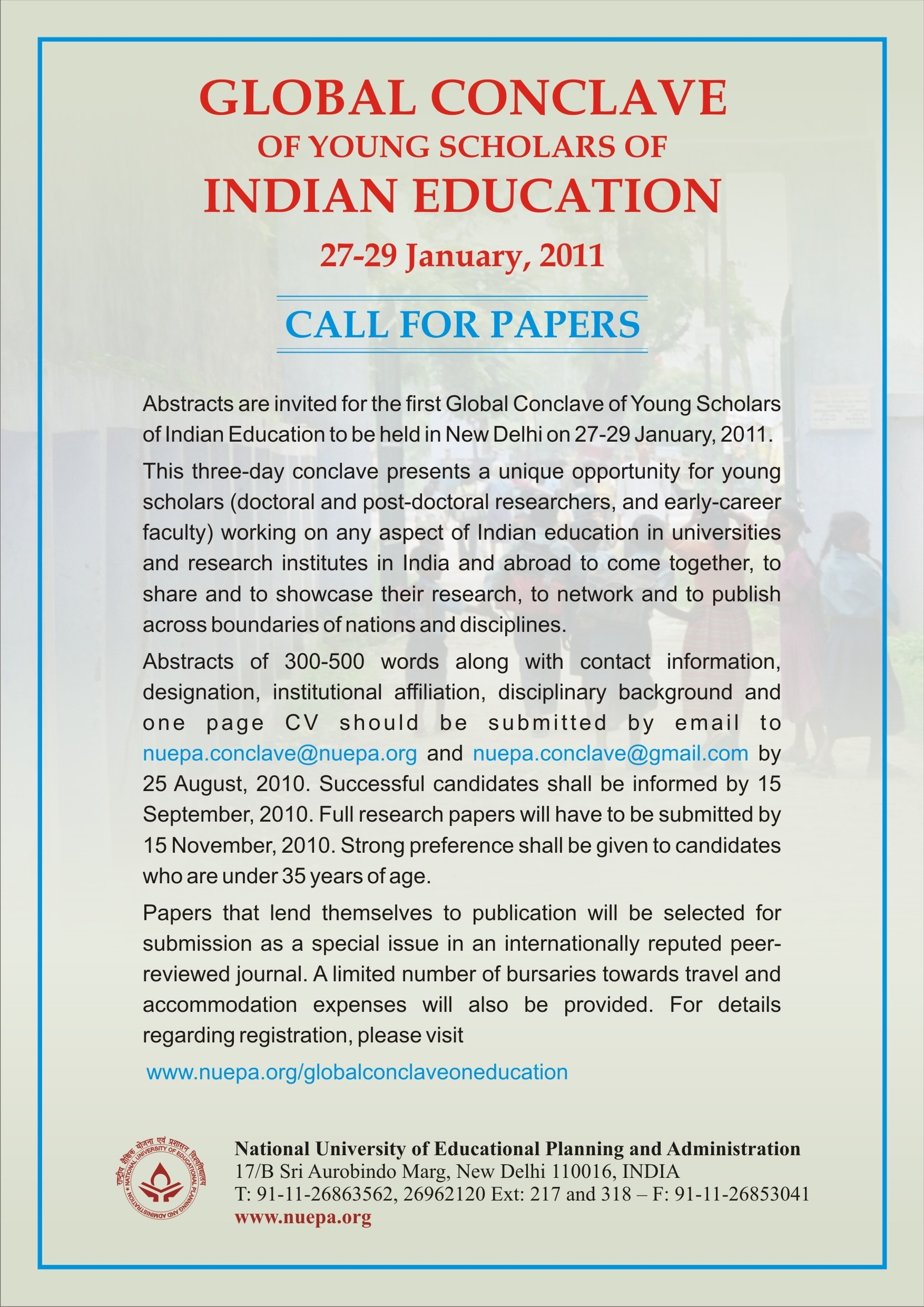 indian research papers Call for paper – september issue 2018 click here for more details international journal of innovative research and advanced studies (ijiras)(issn: 2394-4404) is a brisk multidisciplinary educational research platform providing those individuals an ideal intricate opportunity to accomplish their desires who long for a refined betterment in .